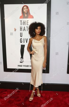 """Arlissa Rupert attends a special screening of """"The Hate U Give"""" at The Paris Theater, in New York"""