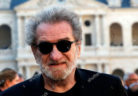 French singer Eddy Mitchell leaves after a tribute ceremony to late singer Charles Aznavour in Paris, France, 05 October 2018.  Aznavour, the French crooner and actor whose performing career spanned eight decades and who seduced fans around the world with his versatile tenor, lush lyrics and kinetic stage presence, has died on 01 October at the age of 94.