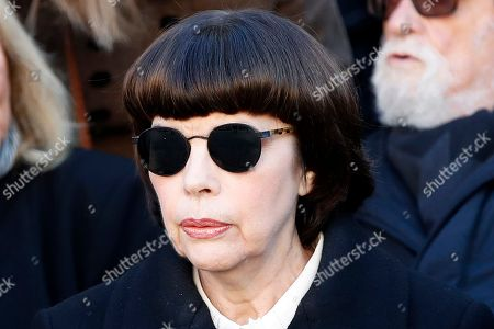 French singer Mireille Mathieu attends a ceremony to pay a tribute to late singer Charles Aznavour in Paris, France, 05 October 2018.  Aznavour, the French crooner and actor whose performing career spanned eight decades and who seduced fans around the world with his versatile tenor, lush lyrics and kinetic stage presence, has died on 01 October at the age of 94.