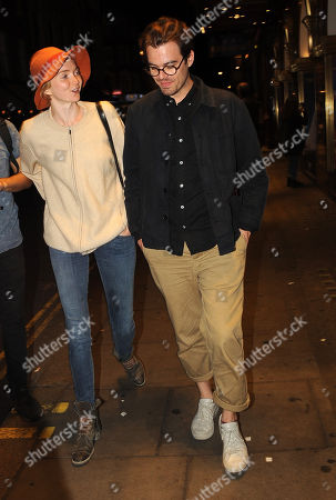 Stock Image of Lily Cole and boyfriend Kwame Ferreira