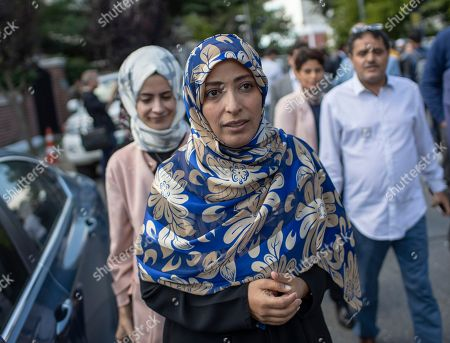 Yemeni Nobel Prize winner Tawakkol Karman (C) participates at a demonstration for missing Saudi Journalist Jamal Khashoggi organized by Turkish-Arabic Media Association in front of the Saudi Arabian consulate in Istanbul, Turkey, 05 October 2018. According to reports, Jamal Khashoggi, a Saudi journalist known for being a critic of his country's policies, has gone missing after visiting the Saudi consulate in Istanbul on 02 October 2018 to complete routine paperwork.