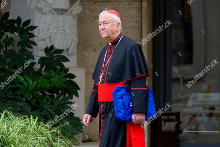Stock Photo of Cardinal Cardinal Archbishop of Westminster Vincent Nichols at the end of the synodal meeting