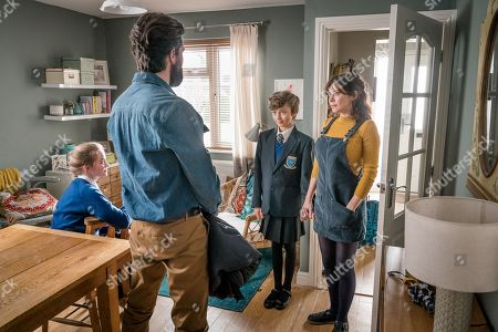 Millie Gibson as Lily, Emmett J Scanlan as Stephen, Callum Booth-Ford as Maxine and Anna Friel as Vicky.