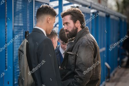 Stock Picture of Joe Wandera as young man and Emmett J Scanlan as Stephen.