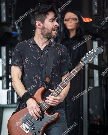 Pete Loeffler of Chevelle in concert