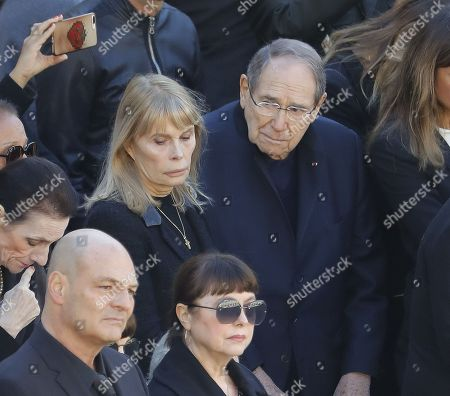 Robert Hossein reacted, sadness next to Candice Patou (wife of Robert Hossein), Mireille Mathieu and sister Catherine, Enrico Macias