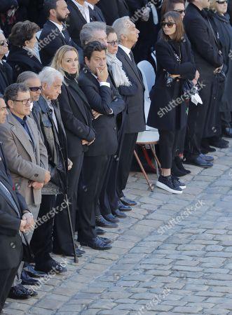 Alain Tierzan, Eddy Mitchell (Claude Moine), Laurent Gerra and wife, Jean-Paul Belmondo, Paul Belmondo, Dany Boon, Dany Brillant, Cyril Hanouna