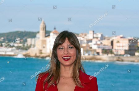Spanish actress and cast member Michelle Jenner attends the presentation of his film 'Sombra de Ley' (lit: shadow of law) at the 51st the Sitges Film Festival, in Sitges, Spain, 05 October 2018. The festival runs from 04 to 14 October.
