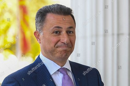 FYR of Macedonia ex-prime minister Nikola Gruevski arrives in the court in Skopje, The Former Yugoslav Republic of Macedonia on 05 October 2018. The Skopje Court of Appeal has confirmed the two-year prison term for the ex- prime minister, Nikola Gruevski, for abuse in the procurement of the bulletproof Mercedes of 600,000 euros. According to the Special Public Prosecutor's Office, Gruevski's crime in the 'Tenk' case is obsolete at the end of October, so the verdict is in the legally stipulated deadline.