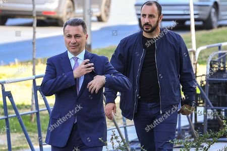 FYR of Macedonia ex-Prime Minister Nikola Gruevski (L) accompanied by his bodyguard arrives in the court in Skopje, The Former Yugoslav Republic of Macedonia on 05 October 2018. The Skopje Court of Appeal has confirmed the two-year prison term for the ex- prime minister, Nikola Gruevski, for abuse in the procurement of the bulletproof Mercedes of 600,000 euros. According to the Special Public Prosecutor's Office, Gruevski's crime in the 'Tenk' case is obsolete at the end of October, so the verdict is in the legally stipulated deadline.