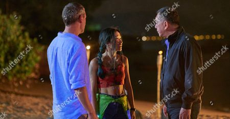 John Simm as Jonah Mulray, Kae Alexander as Becky and Anthony Wong as David Chen.