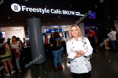 Celebrity Chef and newest WW Ambassador Cat Cora opens the WW Freestyle Café: BKLYN at Barclays Center on in Brooklyn, New York. The WW Freestyle Café: BKLYN offers a diverse menu of WW Freestyle-inspired Mediterranean dishes