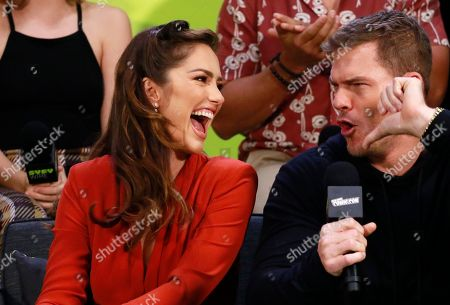 Stock Picture of Minka Kelly and Alan Ritchson