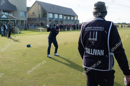 Andy Sullivan on first tee at Carnoustie