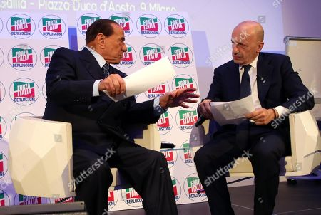 Editorial picture of Silvio Berlusconi at the convention IdeeItalia in Milan, Italy - 05 Oct 2018