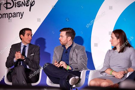 The Biggest Stories in Business. (left to right), Andrew Ross Sorkin Columnist, DealBook Founder & Editor-at-Large, The New York Times, Kevin Roose Columnist, Business Day, The New York Times Magazine, Kate Kelly Reporter, Business, The New York Times.