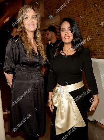 Martha Fiennes and Salma Hayek