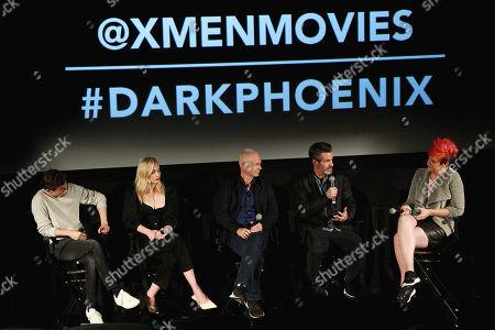ye Sheridan, Sophie Turner, Hutch Parker, Simon Kinberg and Grae Drake