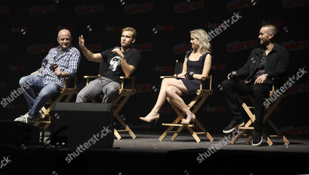 Executive Producer Eric Kripke, Anthony Starr, Erin Moriarty and Chace Crawford