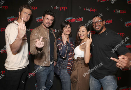 Stock Image of Jack Quaid, Karl Urban, Amazon Studios Sharon Tal Iguado, Karen Fukuhara and Laz Alonso