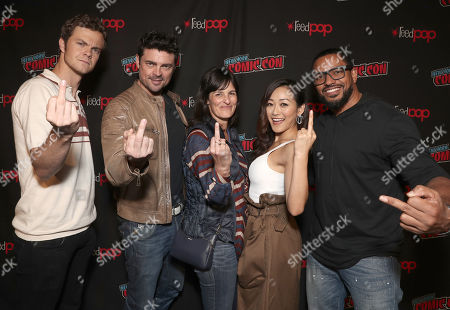 Jack Quaid, Karl Urban, Amazon Studios Sharon Tal Iguado, Karen Fukuhara and Laz Alonso
