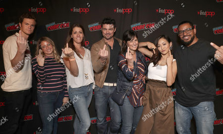 Stock Photo of Jack Quaid, Amazon Studios Katie Graves, Amazon Studios Andie Green, Karl Urban, Amazon Studios Sharon Tal Iguado, Karen Fukuhara and Laz Alonso