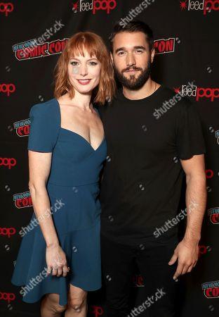 Alicia Witt and Josh Bowman