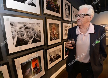 Legendary photographer Harry Benson at the Harry Benson Kings & Queens fall exhibit reception at the World Chess Hall of Fame on in St. Louis