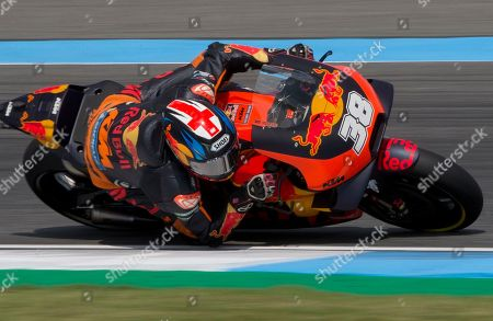 Britain's rider Bradley Smith of the Red Bull KTM Factory Racing Team rides during Thailand's inaugural MotoGP qualifying at the Chang International Circuit in Buriram, Thailand