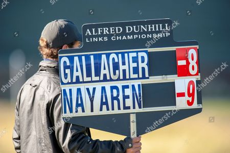 Stephen Gallacher is -8 during the Alfred Dunhill Links Championships 2018 at St Andrews, West Sands