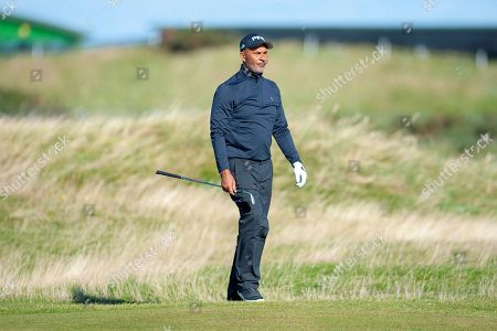 Ruud Gullit on the 16th fairway during the Alfred Dunhill Links Championships 2018 at St Andrews, West Sands