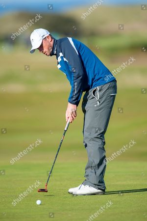Alexander Bjork putts on the 16th green during the Alfred Dunhill Links Championships 2018 at St Andrews, West Sands