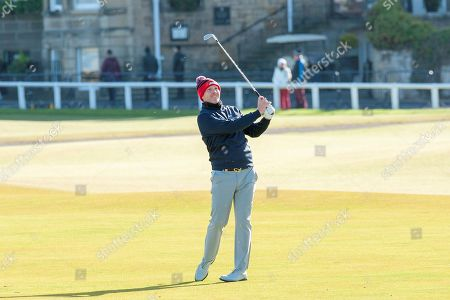 Stephen Gallacher plays his second shot on the 1st fairway, of the third round, during the Alfred Dunhill Links Championships 2018 at St Andrews, West Sands