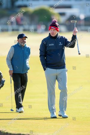 Stephen Gallacher acknowledges the crowd during the Alfred Dunhill Links Championships 2018 at St Andrews, West Sands