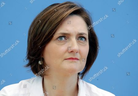Simone Lange attends the first press conference of the new political movement 'Stand Up' in Berlin, Germany