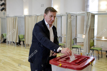 Editorial photo of Parliamentary elections in Latvia, Ikskile - 06 Oct 2018