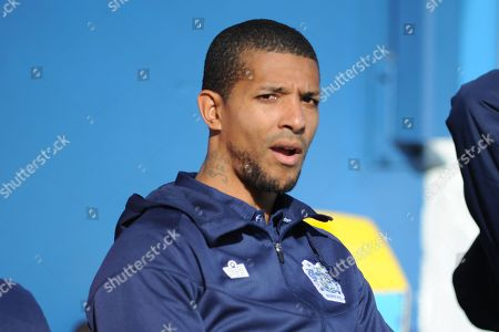 Bury Forward, Jermaine Beckford (9) during the EFL Sky Bet League 2 match between Bury and Mansfield Town at the JD Stadium, Bury
