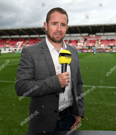 Stock Picture of Scarlets vs Ospreys. Premier Sports Shane Williams