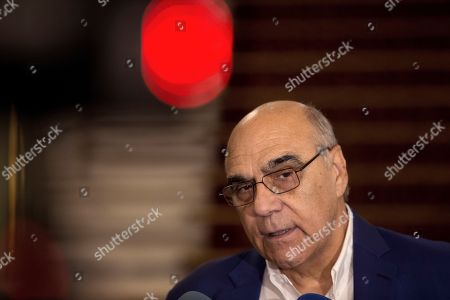 Salvador Alemany, President of the Patronage of the Gran Teatro del Liceu theater, addresses a press conference for the death of Spanish soprano Monserrat Caballe at the theater in Barcelona, Catalonia, northeastern Spain, 06 October 2018. Caballe died early morning 06 October 2018 at Sant Pau Hospital in Barcelona, where she was admitted last September, according to hospital's sources.