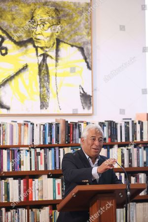 Portuguese Prime Minister, Antonio Costa (C), delivers a speech during an event to mark the 20th anniversary of the award of Literature Nobel Prize to late Portuguese writer Jose Saramago at Saramago's house in the town of Tias, in Lanzarote island, Canary Islands, Spain, 06 October 2018. Saramago spent his last years in the Spanish island.