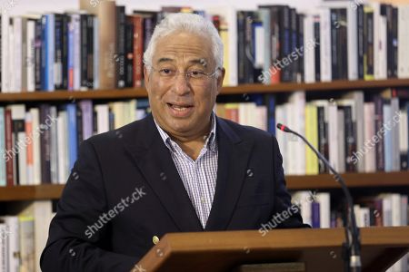 Stock Picture of Portuguese Prime Minister, Antonio Costa (C), delivers a speech during an event to mark the 20th anniversary of the award of Literature Nobel Prize to late Portuguese writer Jose Saramago at Saramago's house in the town of Tias, in Lanzarote island, Canary Islands, Spain, 06 October 2018. Saramago spent his last years in the Spanish island.