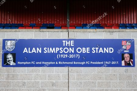 The Alan Simpson Stand ahead of Hampton & Richmond Borough vs AFC Hornchurch, Emirates FA Cup Football at the Beveree Stadium on 6th October 2018