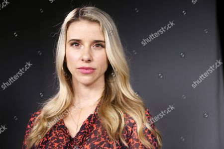 """Melissa Schuman poses for a photo in Los Angeles. The #MeToo movement has sent dozens of once-powerful Hollywood players into exile, but few of them have been placed in handcuffs or jail cells. And it's increasingly apparent that the lack of criminal charges may remain the norm. """"For me it was not necessarily closure, but one of the healthiest things I've ever done for myself,"""" said Schuman, whose case dating to 2003 against Nick Carter of the Backstreet Boys was rejected over the statute of limitations"""