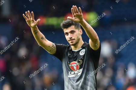 Reading midfielder Saeid Ezatolahi (32) applauds the Reading fansduring the EFL Sky Bet Championship match between West Bromwich Albion and Reading at The Hawthorns, West Bromwich