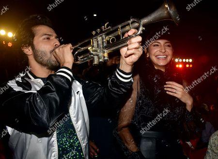 Actor Varun Dhawan and actress Anushka Sharma
