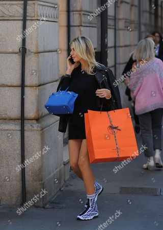 Editorial picture of Melissa Castagnoli out and about, Milan, Italy - 06 Oct 2018