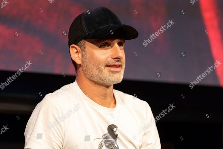 """Andrew Lincoln is seen at """"The Walking Dead"""" panel on the third day of New York Comic Con"""