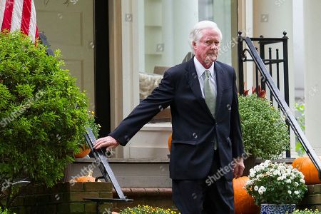 Everett Edward Kavanaugh, Jr., departs the home of his son, Supreme Court nominee Brett Kavanaugh, in Chevy Chase, Md., after the Senate voted to confirm Kavanaugh as a Supreme Court Associate Justice