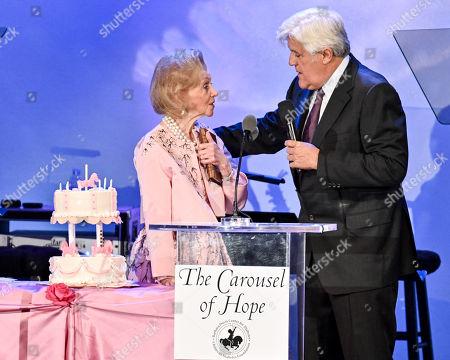 Barbara Davis and Jay Leno