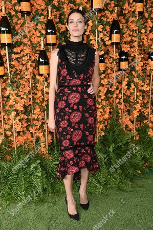 Jessica Pare attends the 9th Annual Veuve Clicquot Polo Classic at Will Rogers State Historic Park, in Los Angeles